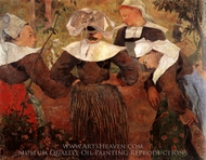Four Breton Women painting reproduction, Paul Gauguin