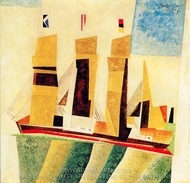 Four Masted Barque painting reproduction, Lyonel Feininger