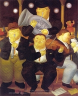 Four Musicians painting reproduction, Fernando Botero