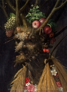 Four Seasons in One Head painting reproduction, Giuseppe Arcimboldo