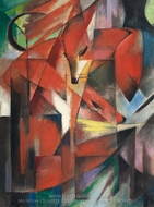 Foxes painting reproduction, Franz Marc