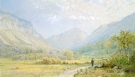Franconia Notch, New Hampshire painting reproduction, William Trost Richards