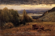 From the Sawangunk Mountains painting reproduction, George Inness