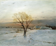 Frosty Morning painting reproduction, Nikolay Dubovskoy