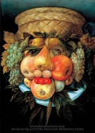 Fruit Basket painting reproduction, Giuseppe Arcimboldo