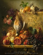 Fruit, Flowers and Game painting reproduction, Georgius Jacobus Johannes Van Os