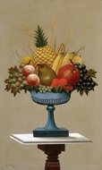 Fruit with Blue-footed Bowl painting reproduction, Charles Sidney Raleigh