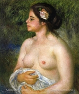 Gabrielle with a Rose painting reproduction, Pierre-Auguste Renoir