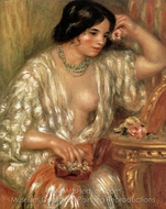Gabrielle with Jewellery painting reproduction, Pierre-Auguste Renoir