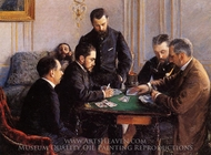 Game of Bezique painting reproduction, Gustave Caillebotte