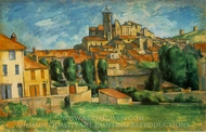 Gardanne painting reproduction, Paul C�zanne