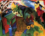 Garden I painting reproduction, Wassily Kandinsky