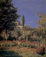 Garden in Flower painting reproduction, Claude Monet