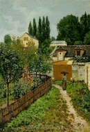 Garden Path in Louveciennes painting reproduction, Alfred Sisley