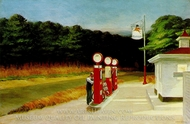 Gas Station painting reproduction, Edward Hopper