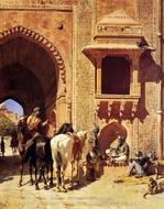 Gate of the Agra Fortress painting reproduction, Edwin Lord Weeks