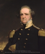 General Winfield Scott painting reproduction, Robert Walter Weir