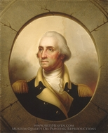 George Washington painting reproduction, Rembrandt Peale