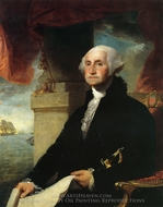 George Washington (The Constable-Hamilton Portrait) painting reproduction, Gilbert Stuart