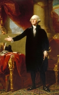 George Washington (The Landsdowne Portrait) painting reproduction, Gilbert Stuart