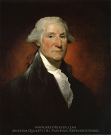 George Washington (The Vaughan Portrait) painting reproduction, Gilbert Stuart