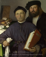 Giovanni Agostino Della Torre and His Son, Niccoli painting reproduction, Lorenzo Lotto