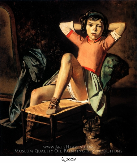 Balthus, Girl and Cat oil painting reproduction