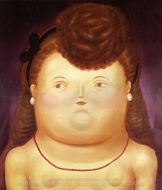 Girl Arc painting reproduction, Fernando Botero