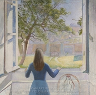Girl at a Window painting reproduction, Balthus