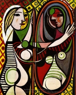 Girl Before a Mirror painting reproduction, Pablo Picasso (inspired by)