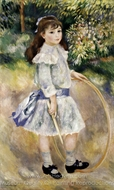 Girl with a Hoop painting reproduction, Pierre-Auguste Renoir
