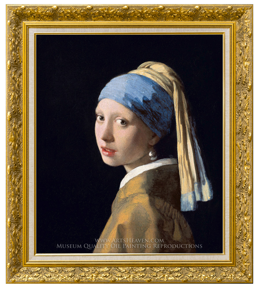 Jan Vermeer, Girl With A Pearl Earring Oil Painting Reproduction