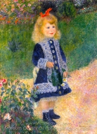 Girl with a Watering Can painting reproduction, Pierre-Auguste Renoir