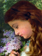 Girl with Lilac painting reproduction, Sophie Gengembre Anderson