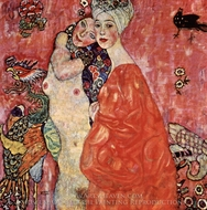 Girlfriends (Die Freundinnen) painting reproduction, Gustav Klimt