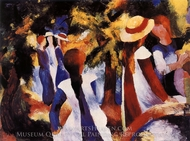 Girls Under Trees painting reproduction, August Macke