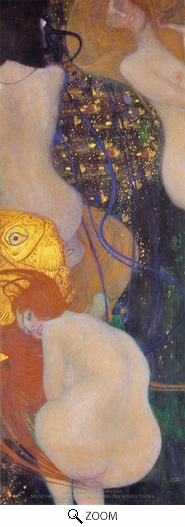 Gustav Klimt, Gold Fish oil painting reproduction