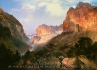 Golden Gate, Yellowstone National Park painting reproduction, Thomas Moran