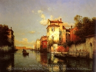 Gondola on a Venetian Canal painting reproduction, Antoine Bouvard