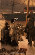 Goodbye, On the Mersey painting reproduction, James Tissot