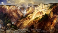 Grand Canyon of the Yellowstone painting reproduction, Thomas Moran