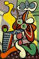 Grande Nature Morte au Gueridon painting reproduction, Pablo Picasso (inspired by)
