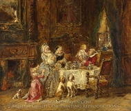 Grandfather's Birthday painting reproduction, Eugene Isabey