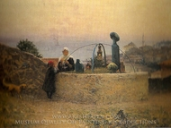 Grave painting reproduction, Fausto Zonaro