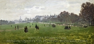 Green Park, London painting reproduction, Claude Monet