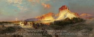 Green River Cliffs, Wyoming painting reproduction, Thomas Moran