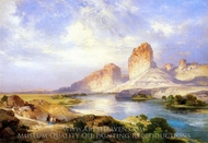 Green River, Wyoming painting reproduction, Thomas Moran