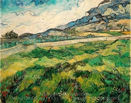 Green Wheatfield painting reproduction, Vincent Van Gogh