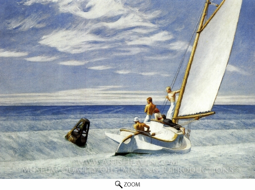 Edward Hopper, Ground Swell oil painting reproduction