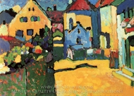 Grungasse in Murnau painting reproduction, Wassily Kandinsky